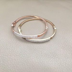 Two bracelet as bundle - rose gold & golden color